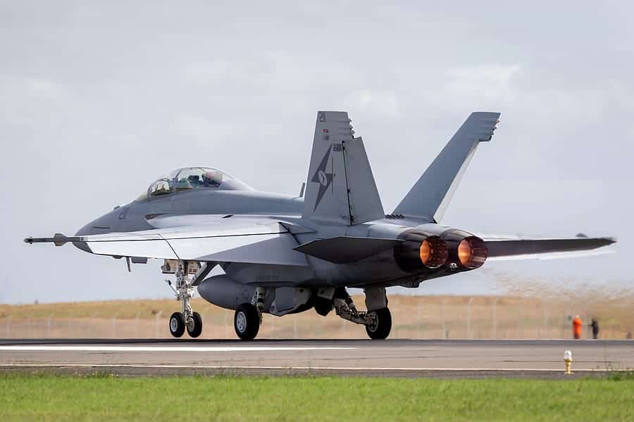 Extreme US F-18 Low Pass over Aircraft Carrier