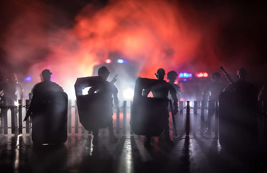 Portland OR: Dangerous Objects Launched at Officers, Unlawful Assembly